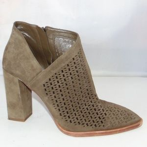 VINCE CAMUTO Levesna Bootie Perforated Suede